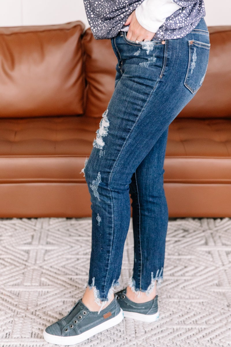 Love In Your Sights Tattered Hem Judy Blue Jeans