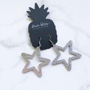 Retro Silver Star Earrings
