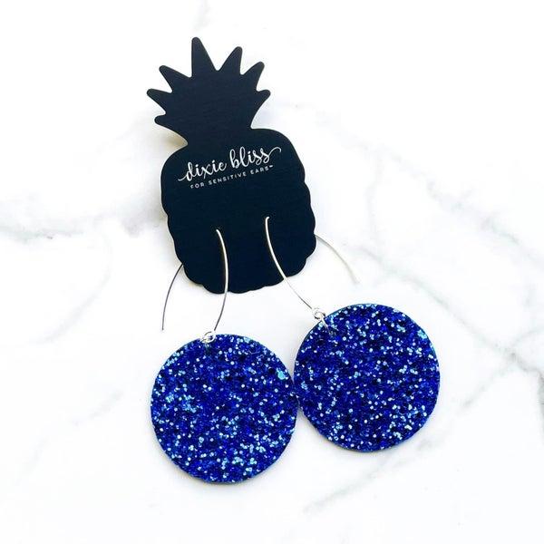 Vegas in Royal Blue Earrings