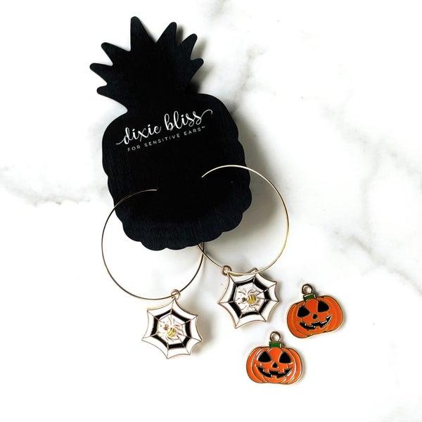 Fanciful Hoops in Spooky Things Earrings