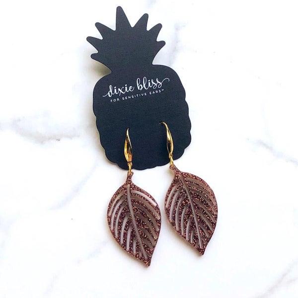 Sparkle Leaves Earrings