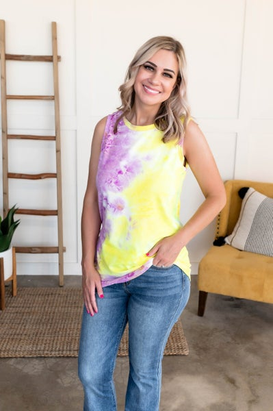 Lilacs In Bloom Sleeveless Top