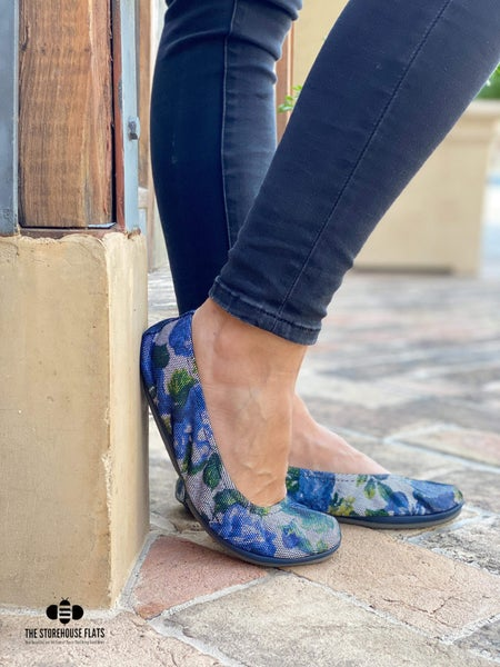 Blue Jean Floral Storehouse Flats