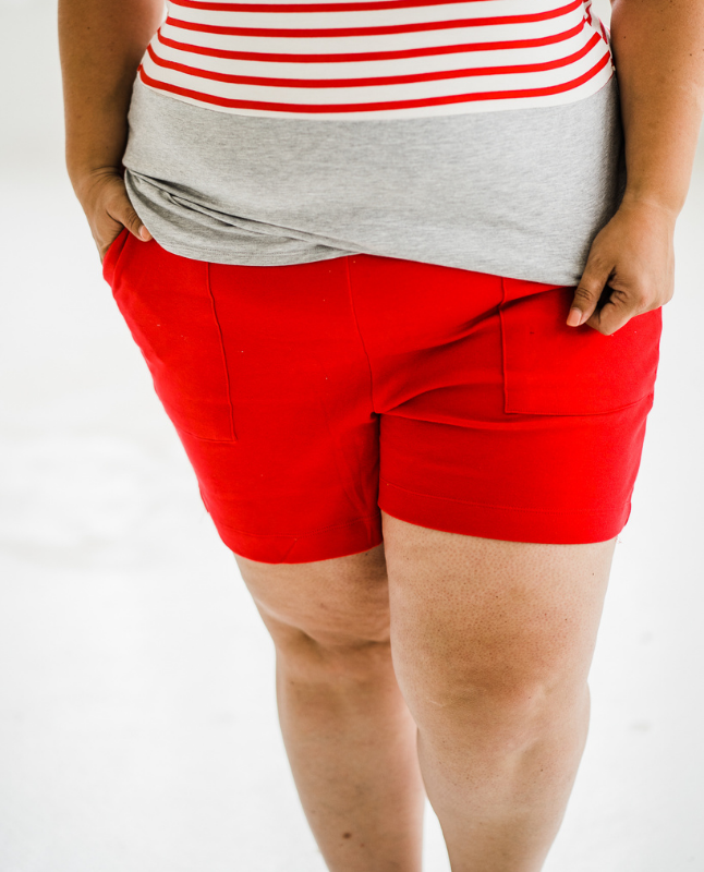 Ruby Red Essential Shorts