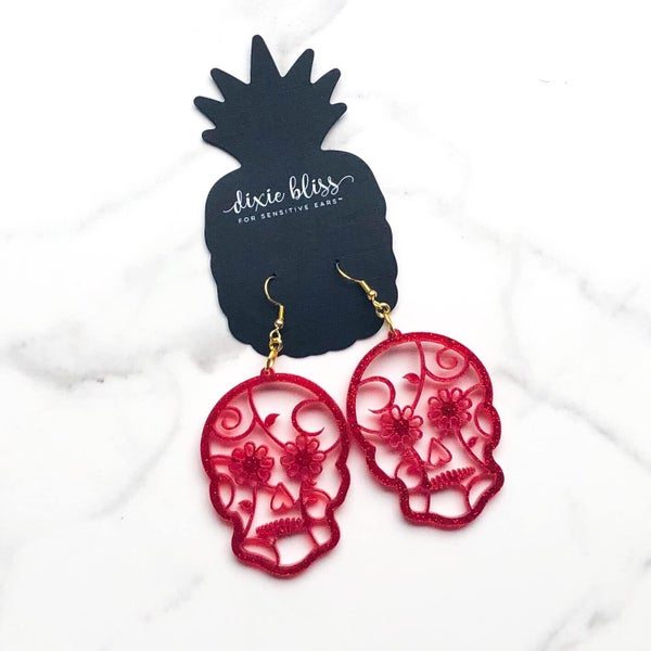 Betty Sugar Skull Earrings