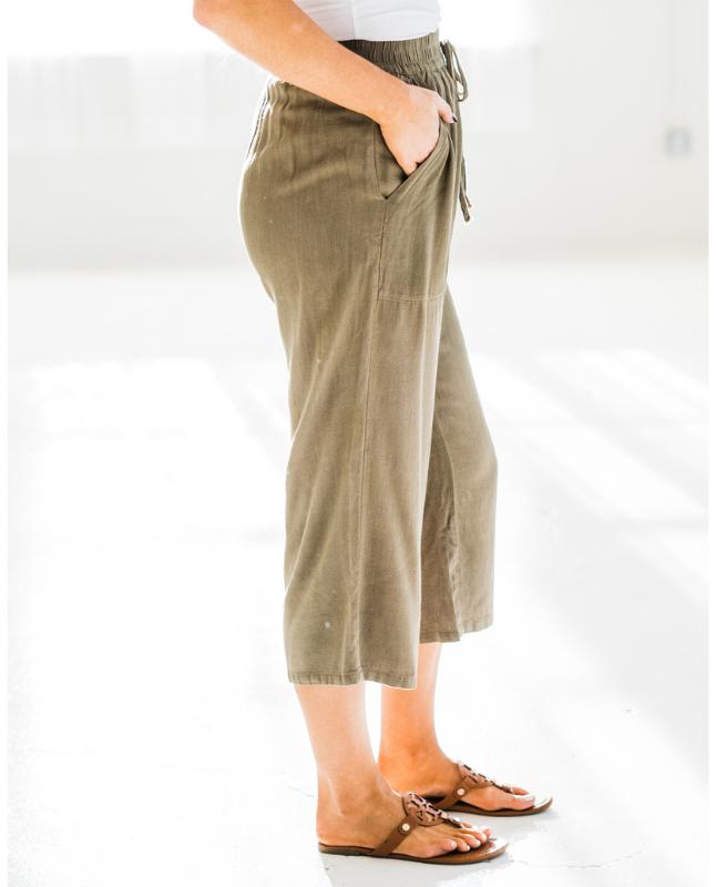 Hepburn Linen Cropped Pants