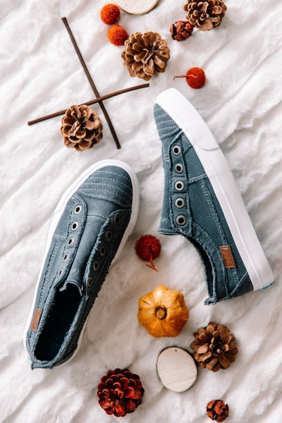 Blowfish Play Desert Iron Color Washed Jersey Sneaker