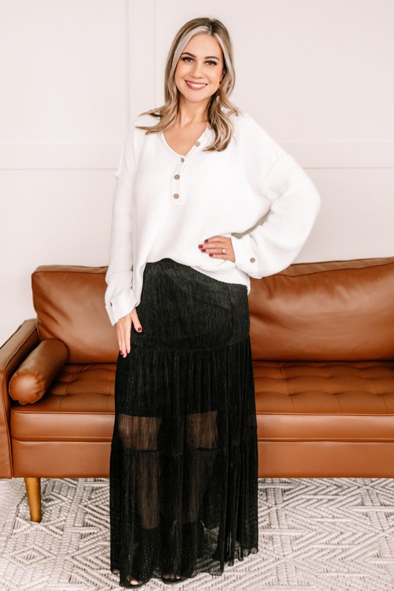 I Put A Spell On You Pleated Maxi Skirt