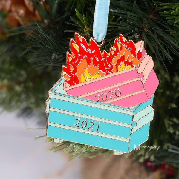 PREORDER 2021 Dumpster Fire Ornament