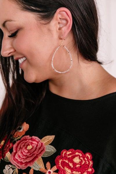 Magic Touch Earrings In Soft Opal
