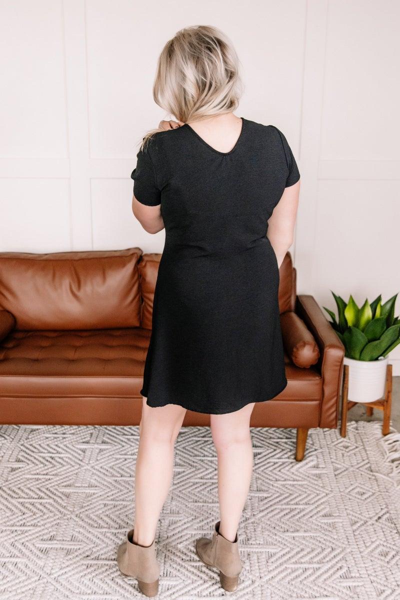 It's A Tie Dress In Black