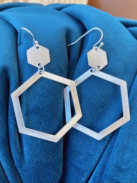 Hello, Gorgeous, Hexagonal Earrings