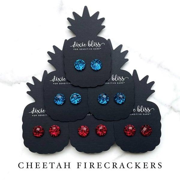 Cheetah Firecracker Earrings