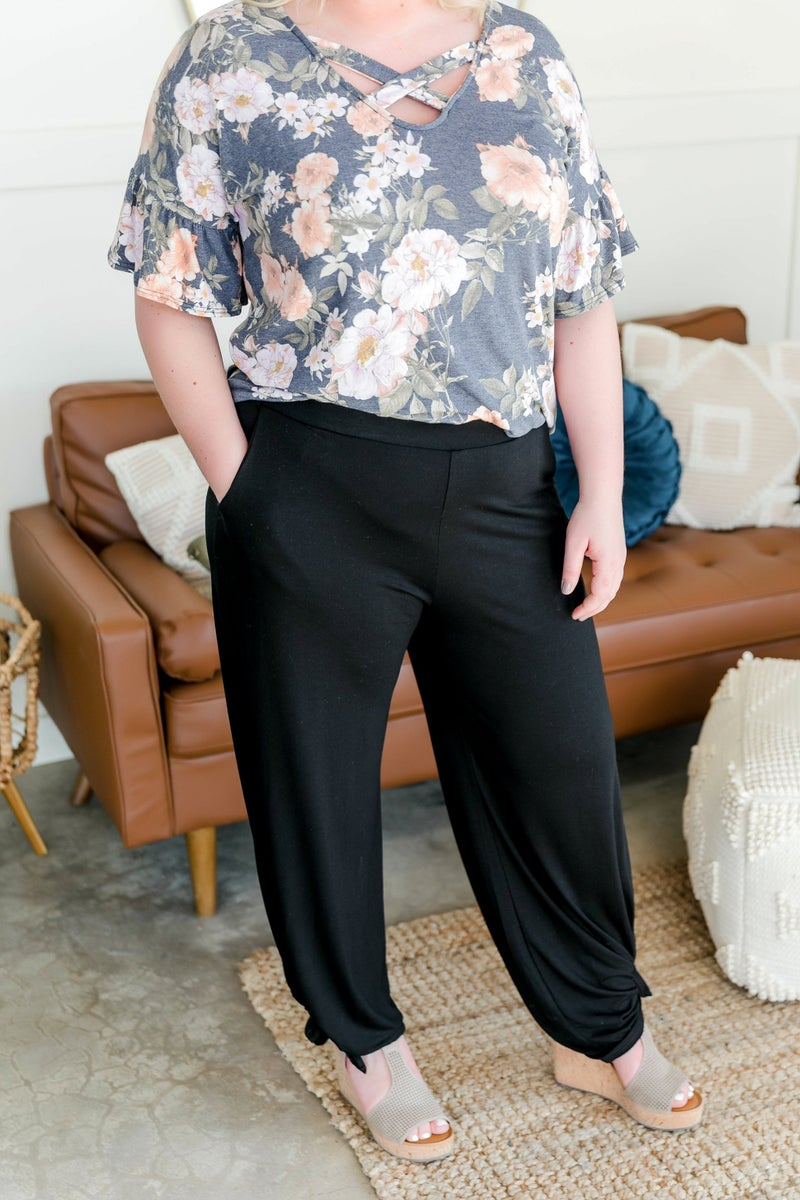 Split The Difference Side Tie Pants