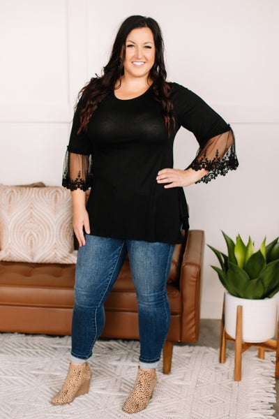 Ring My Bell Lace Top