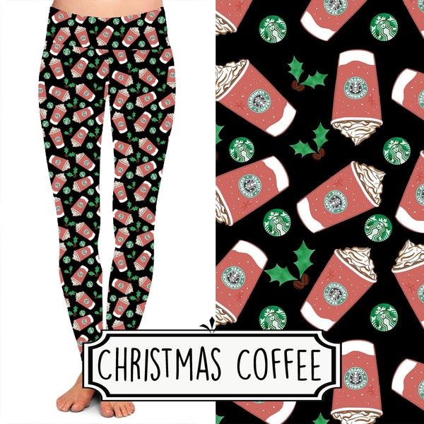 Christmas Coffee Leggings