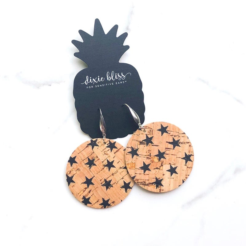 Florence Star Cork Earrings