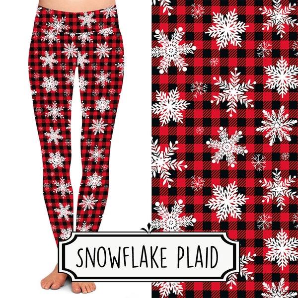 Snowflake Plaid Leggings