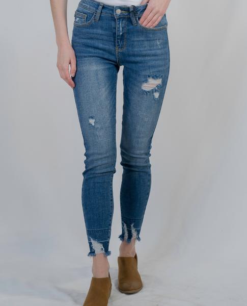Judy Blue Released Hem Skinny Jean