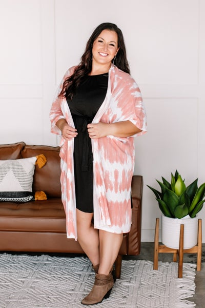 Keep It Light Ombre Coral Cardigan