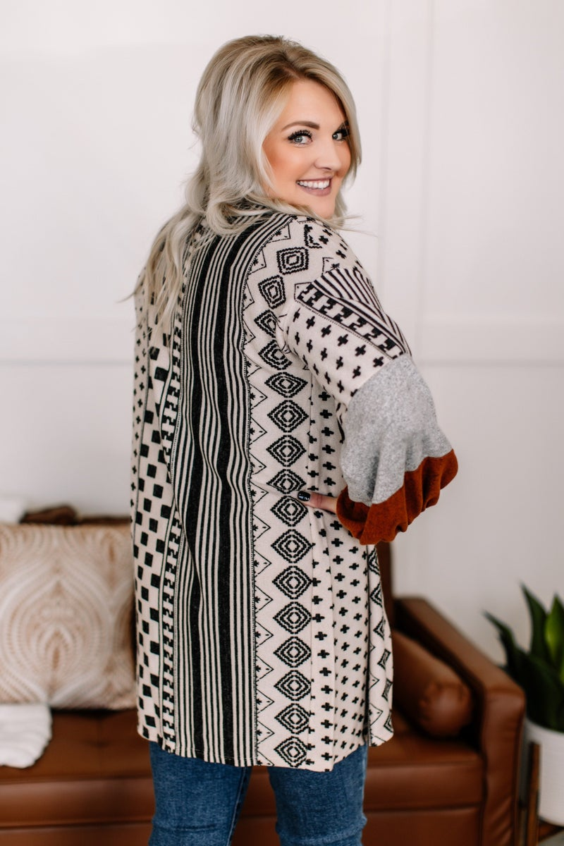 Sensing A Pattern Aztec Cardigan