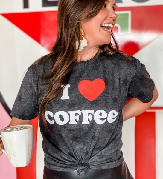 I Heart Coffee Graphic T