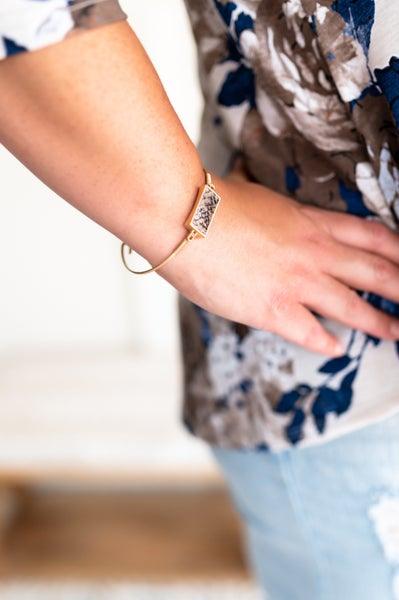 Do A Good Turn Snake Print Bracelet