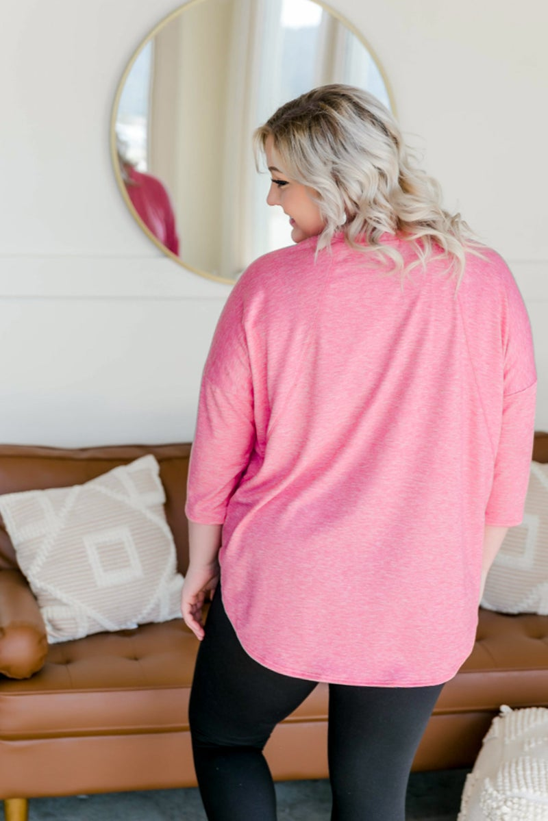 Love At First Blush Top In Coral Pink
