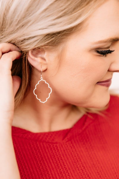On The Marquise Silver Earrings