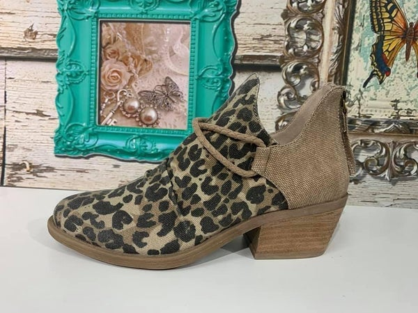 Spartan Leopard Ankle Booties