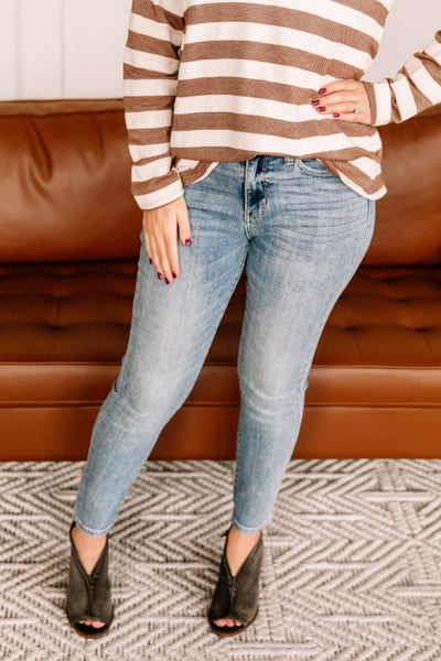 With Gratitude Judy Blue Skinny Jeans