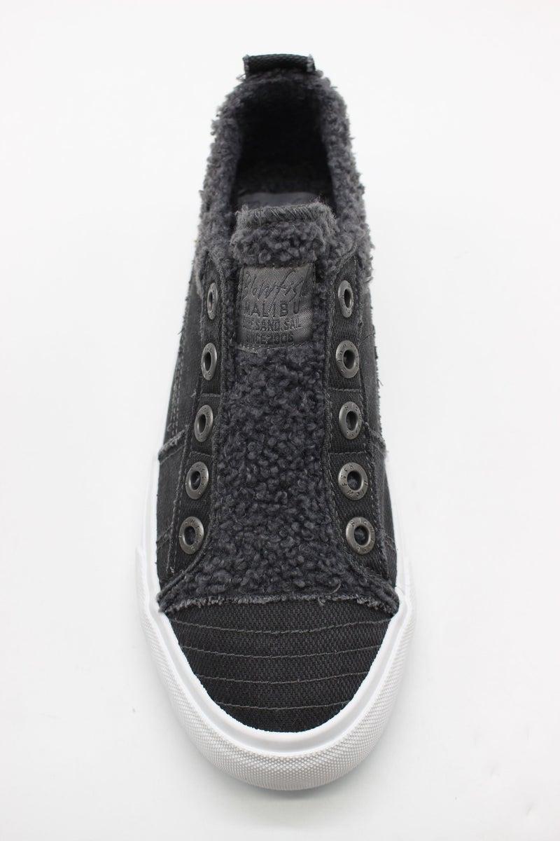 Blowfish Playdoe Sneakers in Black w/Gray Sherpa