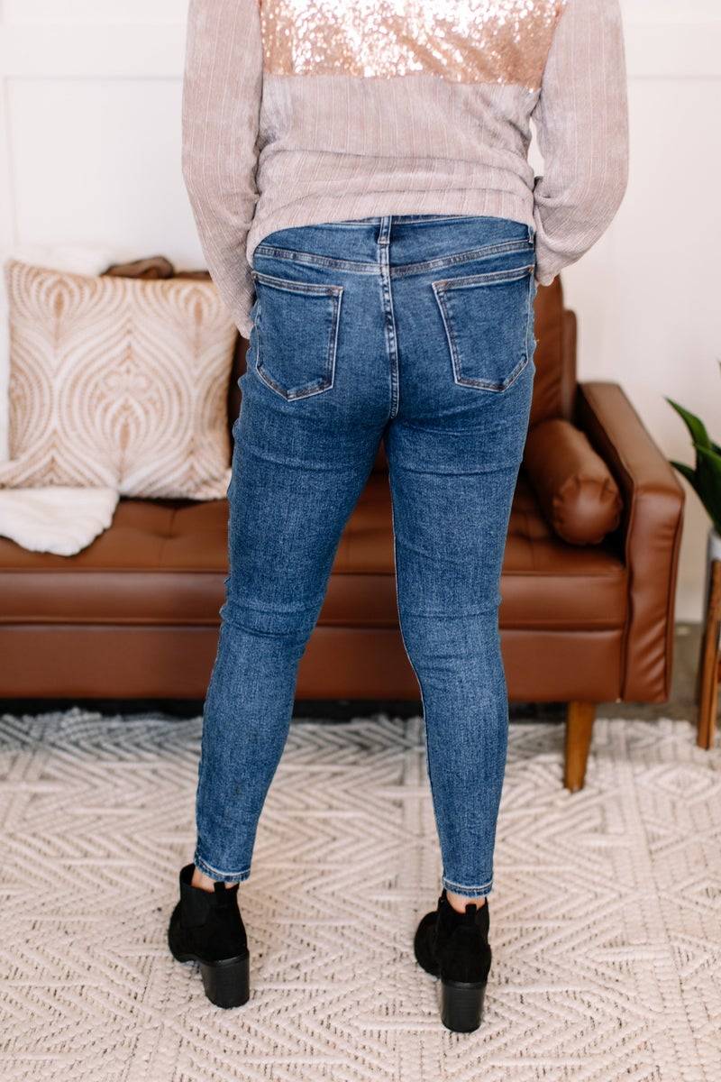 Cast The First Stonewash Skinny Judy Blue Jeans