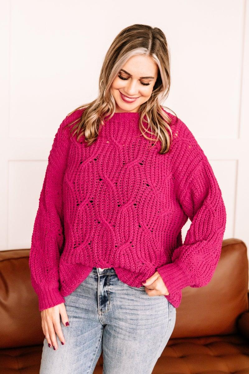 Pretty In Magenta Sweater