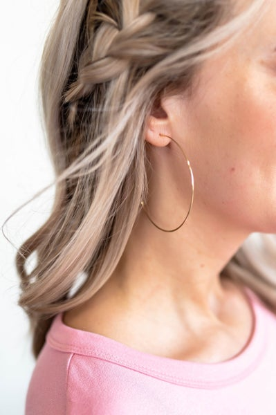 The Midas Touch Gold Hoops