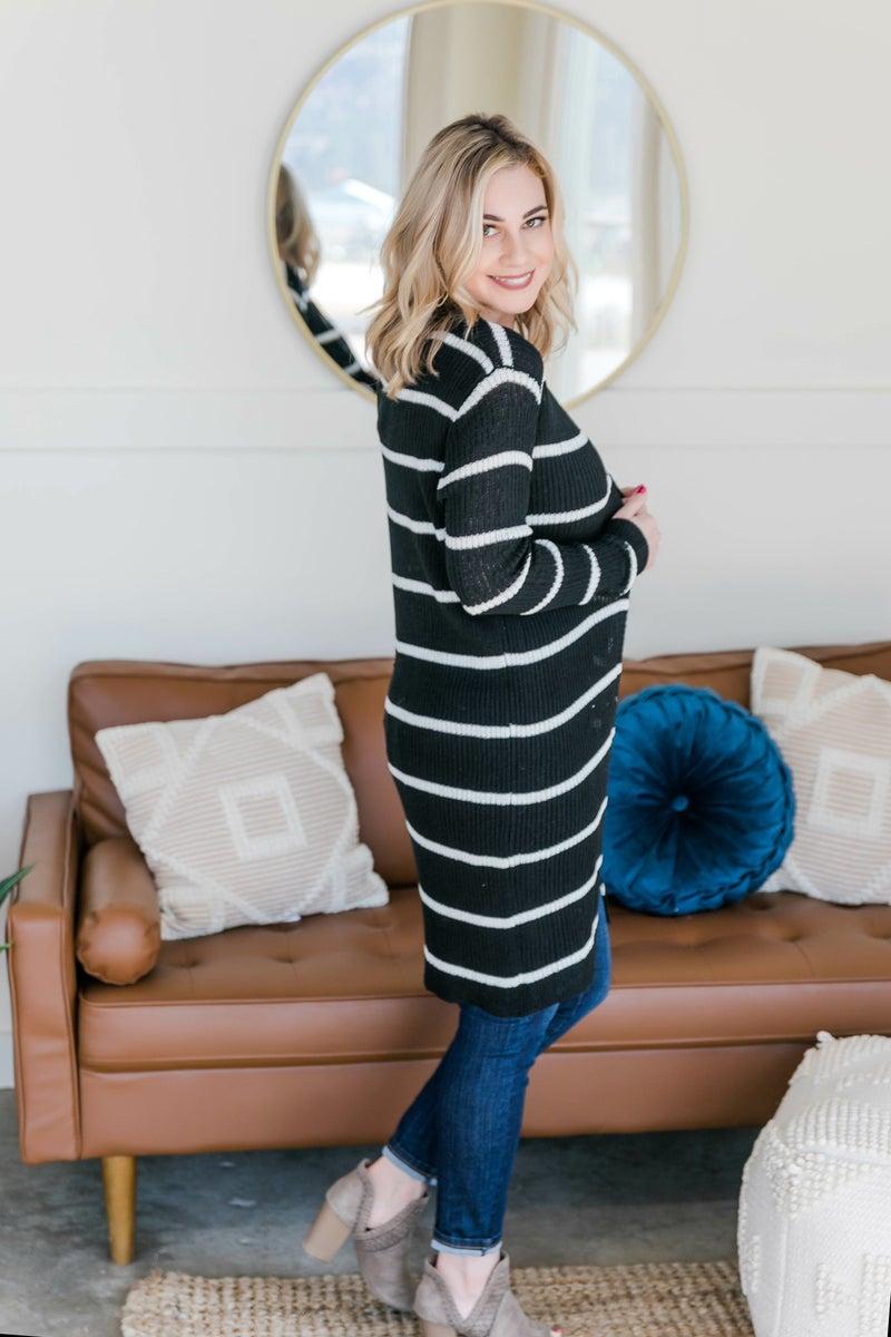 Wrap Me In Stripes Cardigan