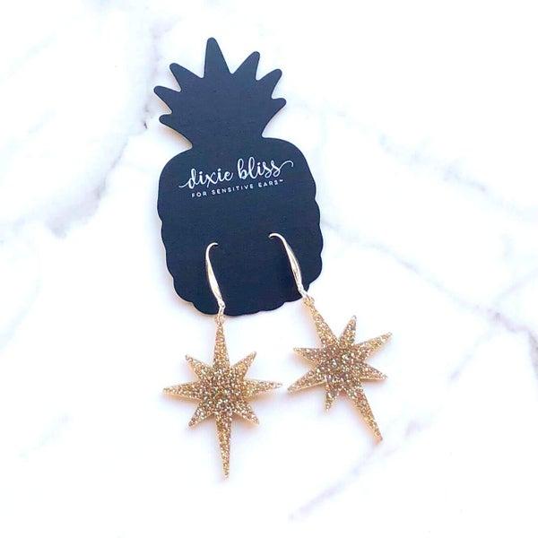 Champagne Star Earrings