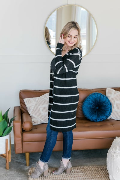 Wrap Me In Stripes Cardigan