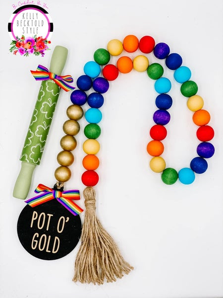 St. Patrick's Day Bead Garland & Rolling Pins