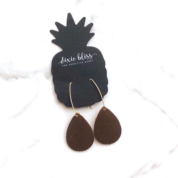Charlotte Leather Earrings