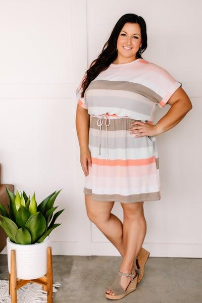 Dressed Like A Dream Color Block Dress