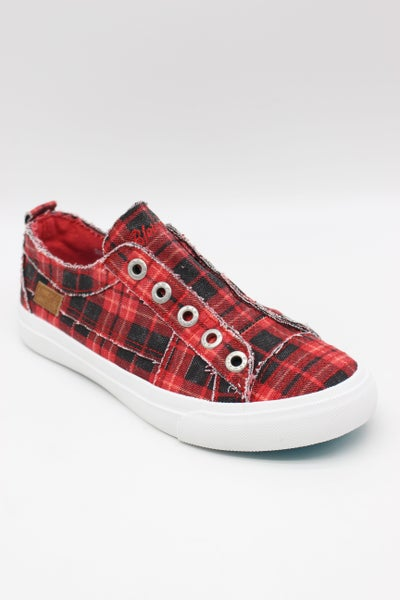 Blowfish Play in Red Grand Canyon Plaid