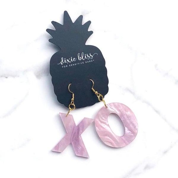 XO in Purple Earrings