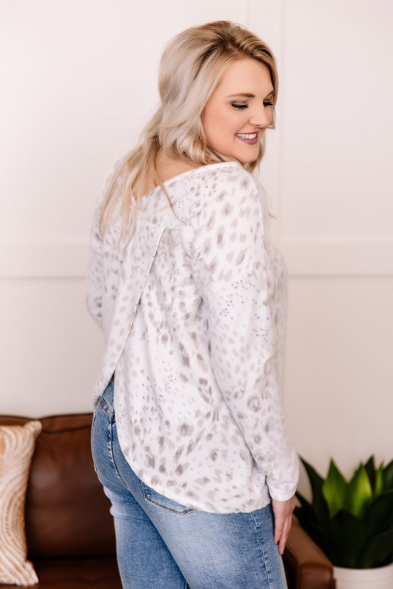 Missed The Expedition Leopard Wrap-Back Top