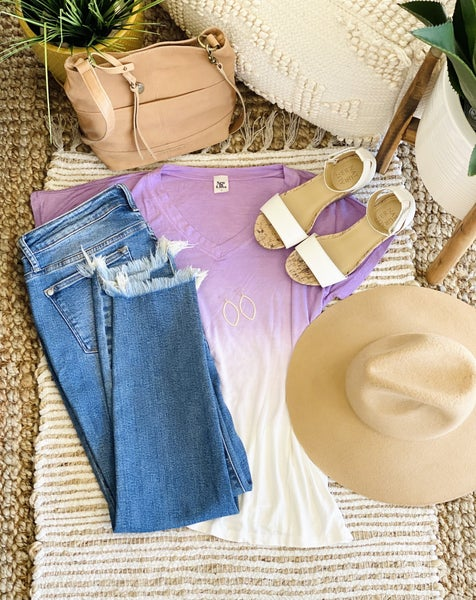 Summer Sunset Top in Purple Tones