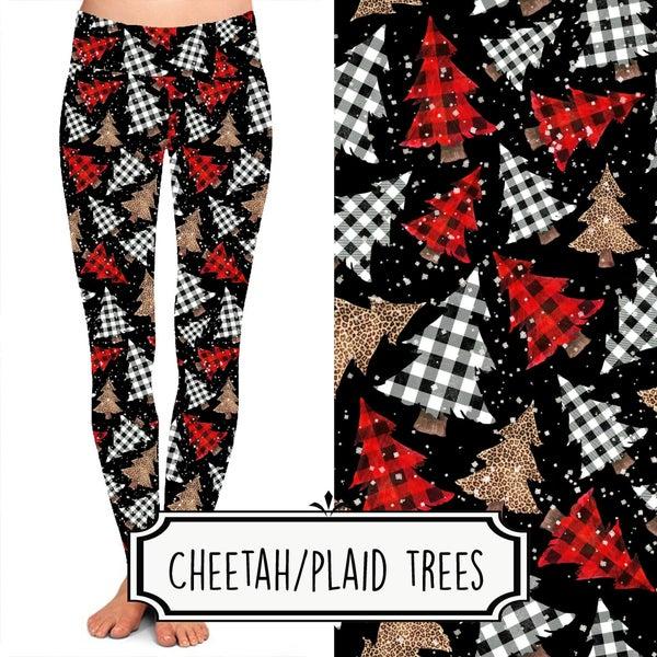Cheetah/Plaid Trees Leggings