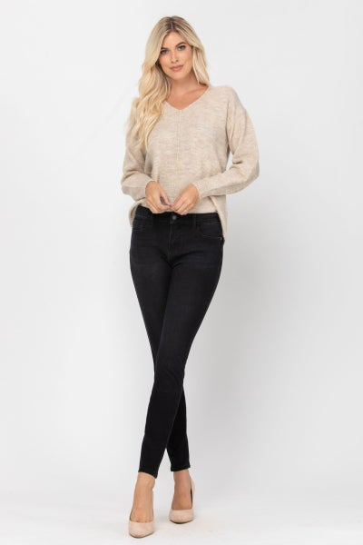 Judy Blue THERMAdenim Black Skinny Jeans