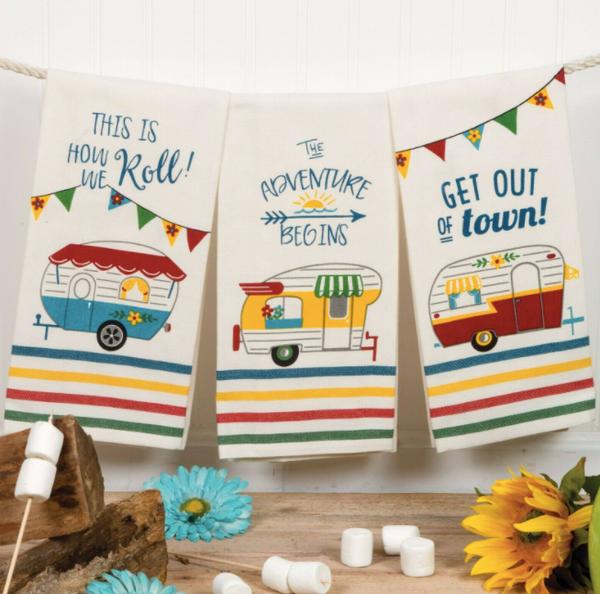 Happy Camper Tea Towel 03298