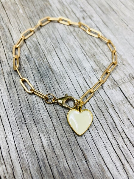 PaperClip Charm Bracelet 02254