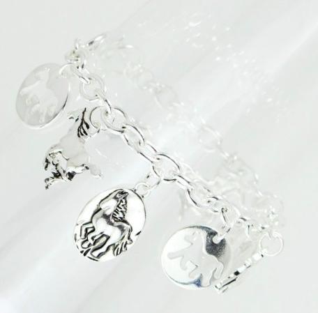 Horse Multi Charm Bracelet 03655